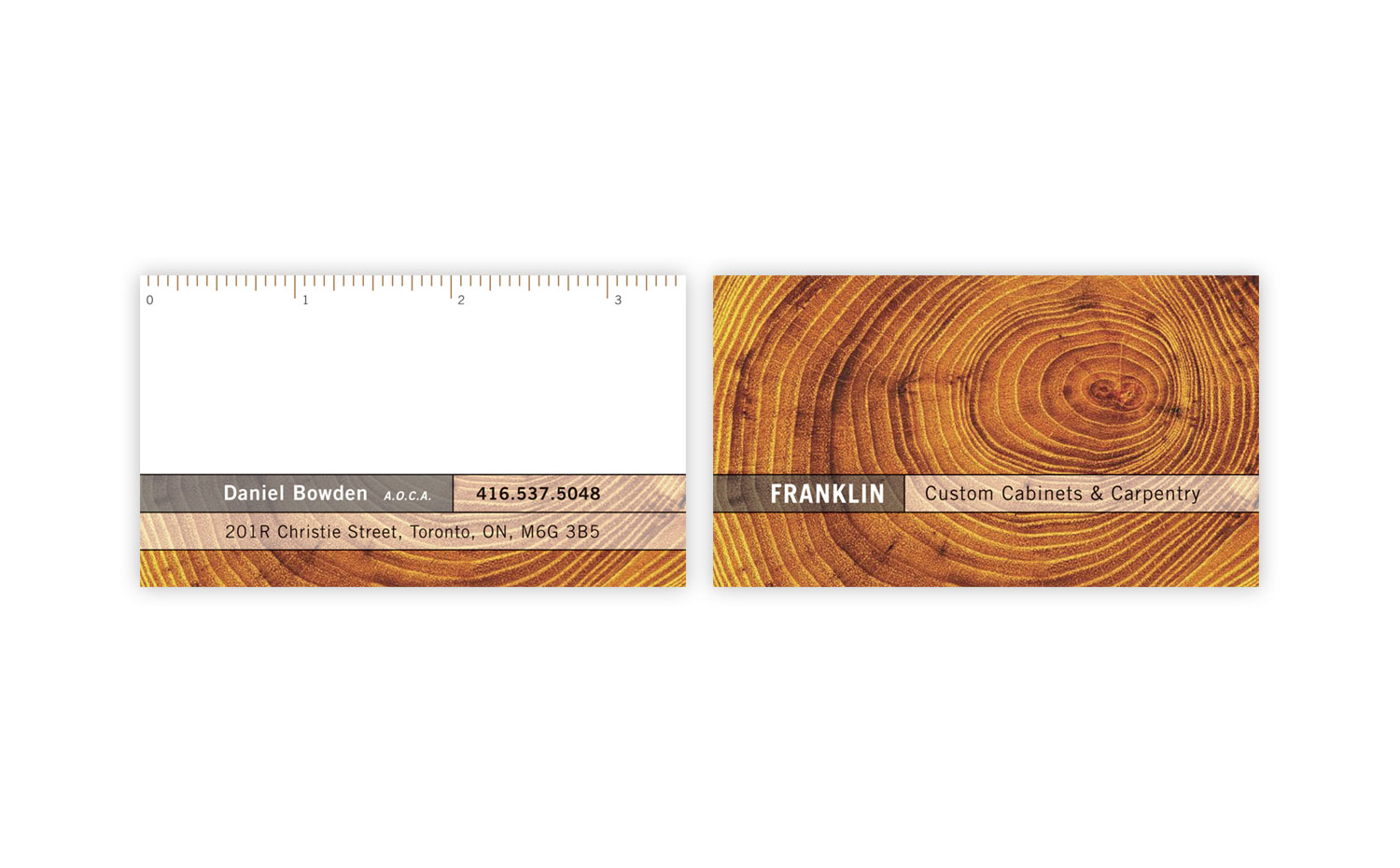 Daniel Bowden Carpentry business card