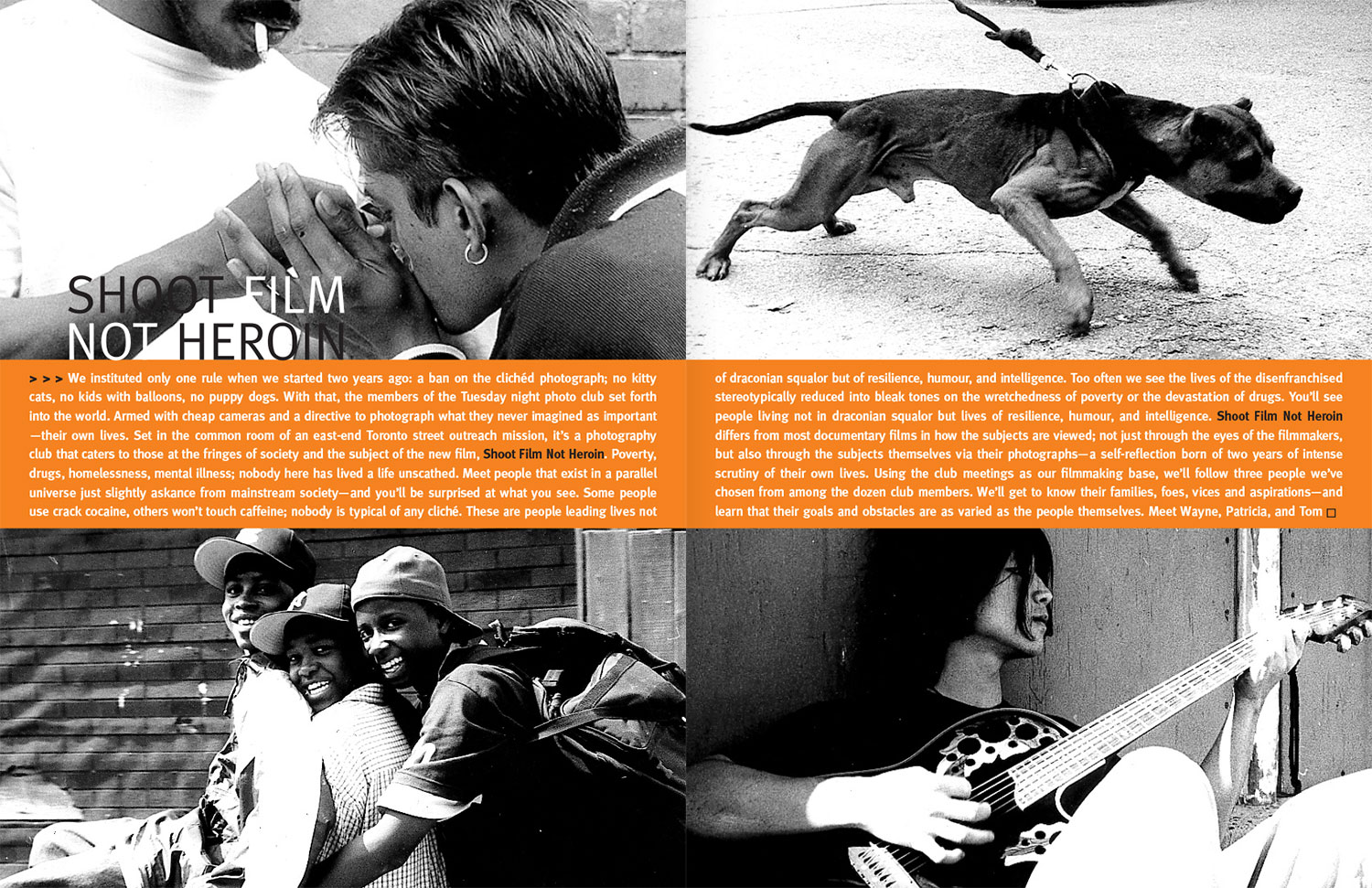 Shoot Film Not Heroin - Pitch book spread 01