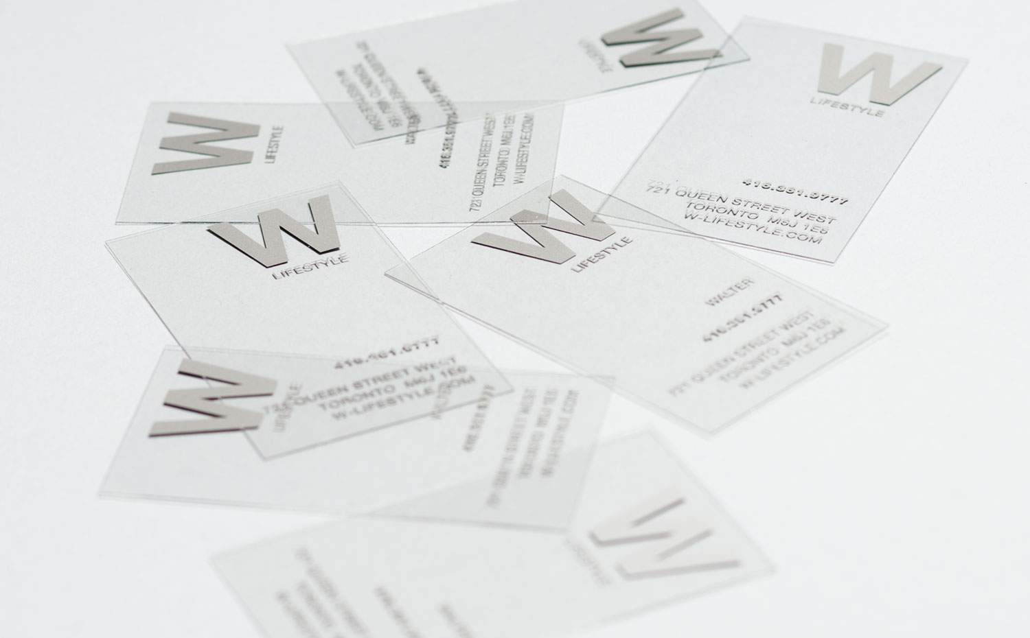 W Lifestyle logo and business cards